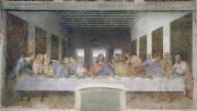 Fresco Metal Prints - The Last Supper Metal Print by Leonardo da Vinci