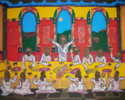 New Testament Painting Originals - The Last Supper by Marcus  Alleyne