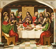 Last Supper Painting Framed Prints - The Last Supper Framed Print by Master of Portillo