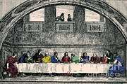 Water Into Wine Prints - The Last Supper Print by Photo Researchers