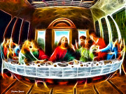 Jesus Digital Art - The Last Supper by Stephen Younts