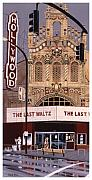 Theatre Posters - The Last Waltz Poster by Mike Hill
