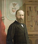 Garfield Prints - The Late President James A. Garfield Print by Everett