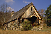 Log Cabins Photos - The Laurel Valley Community Church by Raymond Gehman