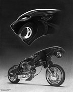Bike Drawings - The Leaper by Tim Dangaran