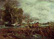 Constable Acrylic Prints - The Leaping Horse Acrylic Print by John Constable