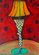 The Shoot Paintings - The Leg Lamp by Carla MacDiarmid