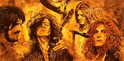 Led Zeppelin Painting Metal Prints - The Legend Metal Print by Igor Postash
