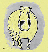 The Horse Digital Art Metal Prints - The Legend of Fat Horse Metal Print by Bill Cannon