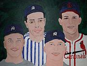 Stan Musial Paintings - The Legends of the Game by Pharris Art