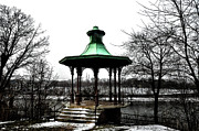 River View Metal Prints - The Lemon Hill Gazebo - Philadelphia Metal Print by Bill Cannon