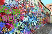 Karluv Most Prints - The Lennon Wall Print by Mariola Bitner