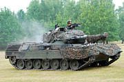 Component Photo Prints - The Leopard 1a5 Main Battle Tank Print by Luc De Jaeger