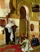 Middle Eastern Prints - The Lesson Print by Rudolphe Ernst