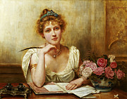 Love Letter Painting Posters - The Letter Poster by George Goodwin Kilbourne