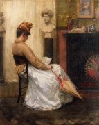 Back View Prints - The Letter Print by Henry John Hudson