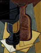 Bottle Paintings - The Letter by Juan Gris