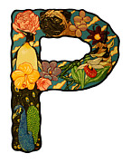 Dakota Paintings - The letter P by Jason  Wright