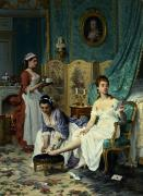 Stockings Art - The Levee by Joseph Caraud