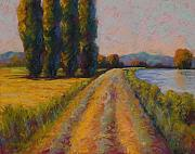 Pastel Paintings - The Levee by Marion Rose