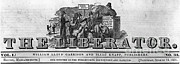 Slavery Photo Framed Prints - The Liberator Masthead Framed Print by Photo Researchers
