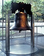 Philadelphia History Art - The Liberty Bell, On Display by Everett