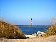 Lighthouses Usa - The Lighhouse at Morris Island Charleston by Susanne Van Hulst