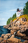 Bass Head Lighthouse Posters - The Light At Bass Head Harbor Poster by Gregg Litchfield
