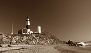 York Beach Prints - The Light At Montauk Point Print by Skip Willits