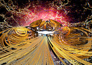 Science Fiction Digital Art Originals - The Light at the End of the Tunnel by Michael Durst