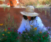 Women Mixed Media - The Light of the Garden by Colleen Taylor