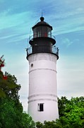 Lighthouse Digital Art - The Lighthouse at Key West Florida by Bill Cannon