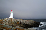 The Lighthouse At Peggys Cove Nova Scotia Print by Shawna Mac