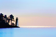 Maine Shore Digital Art Prints - The Lighthouse Print by Bill Cannon