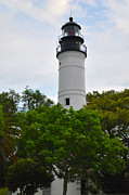 Florida Digital Art - The Lighthouse on Key West Florida by Bill Cannon