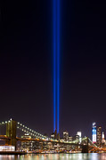 New York City Skyline Art - THE LIGHTS - 9-11 Tribute by Shane Psaltis