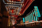 Fremont Street Prints - The lights are on in Las Vegas Print by Susanne Van Hulst