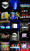 Collages Acrylic Prints - The Lights of Japan by Roberto Alamino
