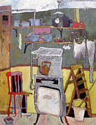   Of Pianos Paintings - The Lilac Chair by Roger Phillpot