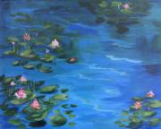 Lily Pond Paintings - The Lily Pond II  by Torrie Smiley