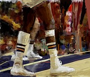 Nba Championship Mixed Media Prints - The Limp Print by Donna Johnson