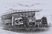 Philadelphia Metal Prints - The Linc - Philadelphia Eagles Metal Print by Bill Cannon