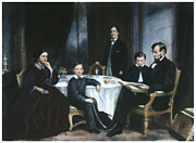 Mary Todd Lincoln Prints - The Lincoln Family Print by Granger
