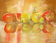 Food And Beverage Pastels Originals - The Line Up by Sandra Valentini