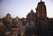 Religious Characters And Scenes Photos - The Lingaraja Temple In Bhubaneshwar by James P. Blair