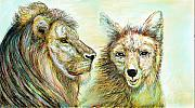 The Lion And The Fox 3 - To Face How Real Of Faith Print by Sukalya Chearanantana