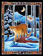 Mountain Lion Paintings - The Lion and the Owl by Harriet Peck Taylor