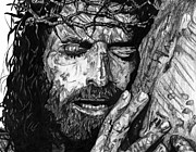 Jesus Drawings Prints - The Lion Print by Bobby Shaw