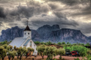 Superstition Mountains Photo Framed Prints - The Little Church  Framed Print by Saija  Lehtonen