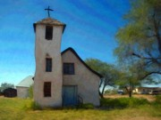 Acrylic Pastels - The Little Church by Snake Jagger